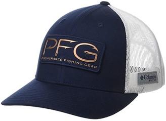 Columbia PFG Mesh Ballcap (Collegiate Navy/Rose Gold Hooks) Baseball Caps