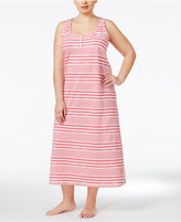 Lauren Ralph Lauren Plus Size Striped Nightgown