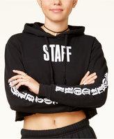 Bravado Justin Bieber Purpose Tour Juniors' Staff Cropped Hoodie