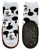 Disney Size 0-6M Mickey Mouse Mukluk Slipper in Grey
