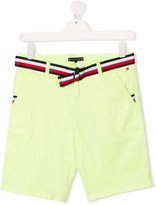 TEEN belted chino shorts