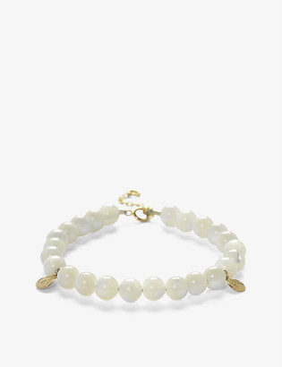 THE ALKEMISTRY Cinta 18ct yellow gold and Mother of Pearl beaded bracelet
