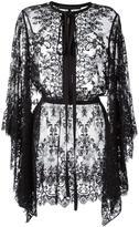 Elie Saab pussybow lace blouse - women - Cotton/Polyamide/Silk - 38