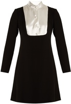 Lanvin Satin-bib crepe dress