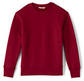 Lands' End Toddler Boys Crew Sweatshirt-Red