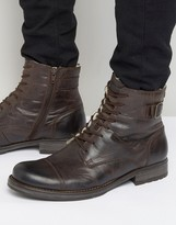 Jack and Jones Siti Warm Lining Leather Boots