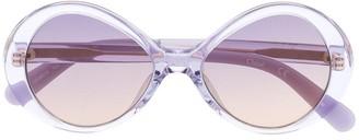 Chloé Kids Transparent Round-Frame Sunglasses