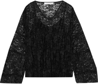 See by Chloe Plisse-lace Top