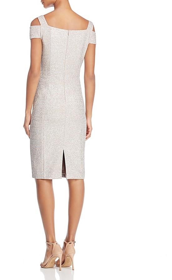 Eliza J Cold-Shoulder Dress
