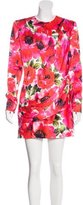 Balmain Floral Print Long Sleeve Dress w/ Tags