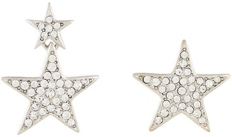 Kenneth Jay Lane Asymmetric Star-Shaped Earrings
