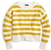 J.Crew Women's Textured Stripe Sweater