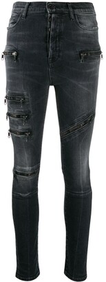 Unravel Project mid rise zipped skinny jeans