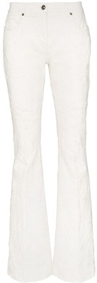Etro Paisley mid-rise flared jeans