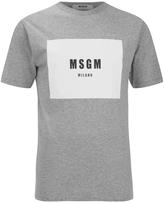Msgm Logo Tshirt - Grey