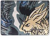 Burberry Beast Print Card Holder