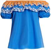 Peter Pilotto Off-the-shoulder cotton-poplin top