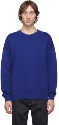Kenzo Blue Knit Logo Sweatshirt