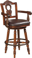 Signature Design by Ashley Counter Height Upholstered Swivel Bar Stool