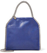 Stella McCartney The Falabella Mini Faux Brushed-leather Tote - Royal blue