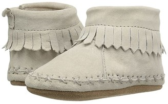Robeez Cozy Ankle Moccasin Soft Sole (Infant/Toddler) (Grey) Boy's Shoes