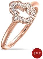 Thomas Sabo Hand Of Fatima Ring In Rose Gold L
