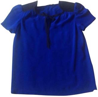 Maje Navy Silk Top for Women