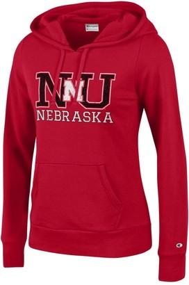 Champion NCAA Women's Comfy Fitted University Fleece Hoodie Nebraska Cornhuskers Medium