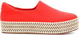 Opening Ceremony Cici Wrap platform espadrilles - women - Calf Leather/Cotton/rubber - 35
