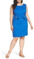 Ellen Tracy Plus Size Women's Kenya Sheath Dress
