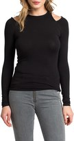 LAmade Long Sleeve Cold Shoulder Tee