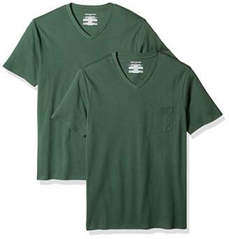 Amazon Essentials Men's 2-Pack Slim-Fit V-Neck Pocket T-Shirt