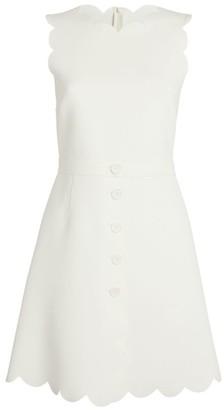 RED Valentino Scallop-Detail Mini Dress