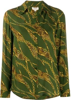 L'Agence Nina chain-print shirt