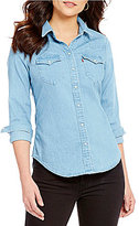 Levi's s Tailored Classic Western Front Button Long Sleeve Shirt