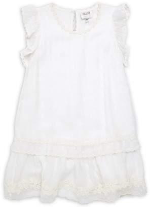HEMANT AND NANDITA Girl's Dot Tiered Dress