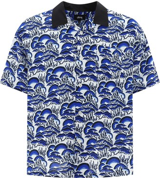 Stussy Coral Print Short-Sleeve Shirt