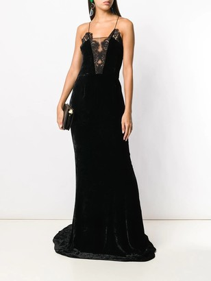 Stella McCartney Lace And Velvet Gown