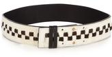 Palmer Harding PALMER/HARDING Checkerboard calf-hair belt