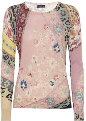 Etro Printed silk and cashmere sweater