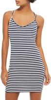 Topshop Women's Stripe Strappy Body-Con Minidress