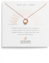 Dogeared Women's Love You, Sister Together Knot Pendant Necklace