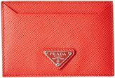 Prada Leather Card Case (Women) - Red - One Size
