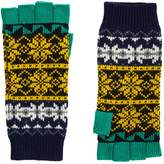 Burberry Fair Isle Fingerless Gloves, Yellow