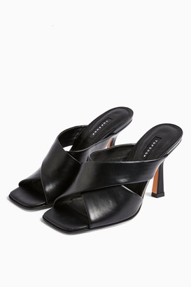 Topshop SKYLA Black High Mules