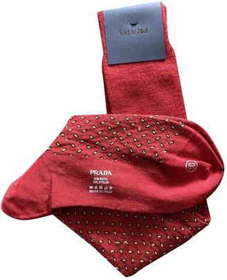 Prada Red Wool Scarves & pocket squares