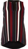 River Island Womens Plus black stripe tank top