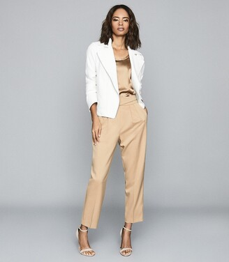 Reiss Sabine - Casual Jacket With Zip Detailing in White