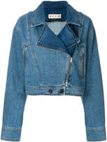 Marni denim biker jacket