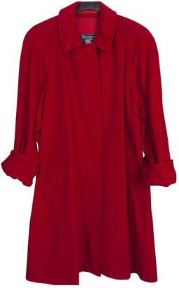 Burberry Red Wool Coat for Women Vintage